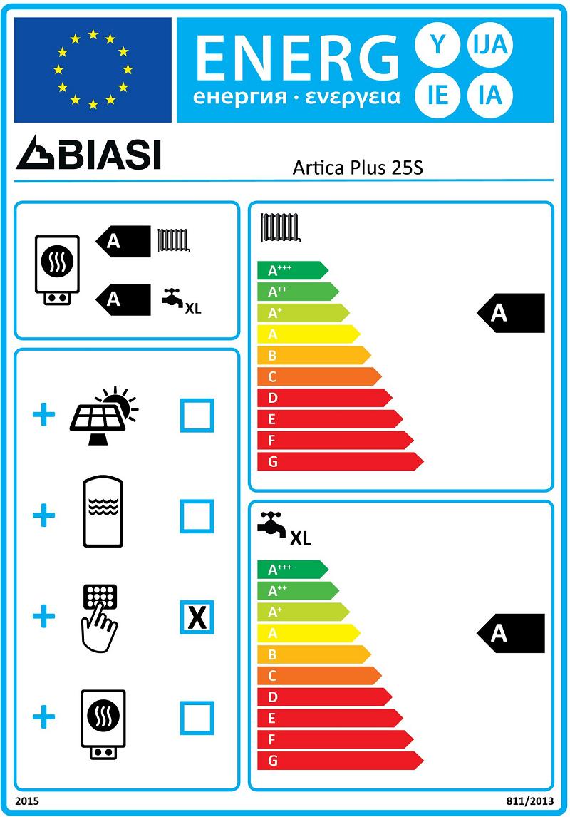 Biasi Artica Energy Sticker